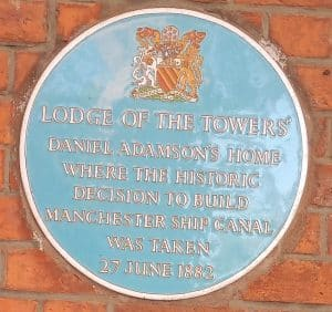 Daniel Adamson Plaque at the Towers