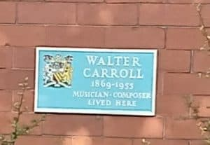 Walter Carroll Plaque